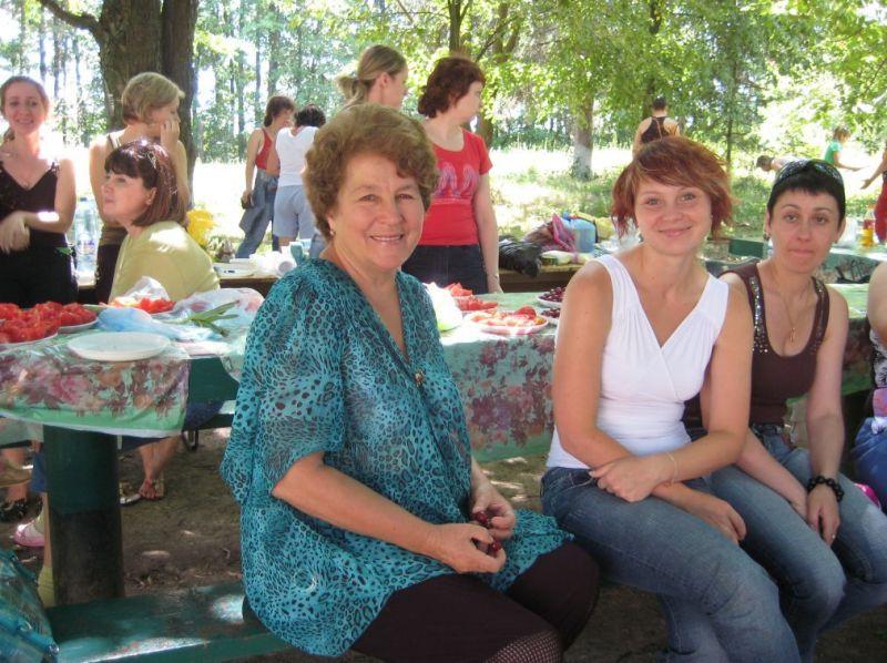 Виїзд Т. С. Яценко на природу під час ІІІ Авторської школи